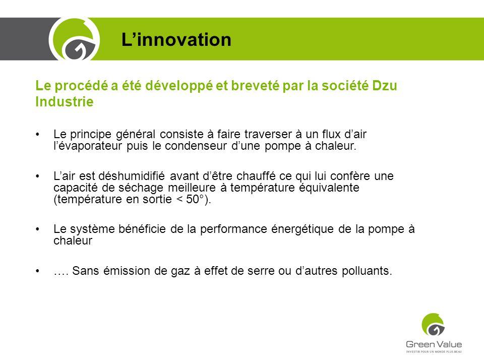 L'innovation Le procédé a été développé et breveté par la société Dzu Industrie.