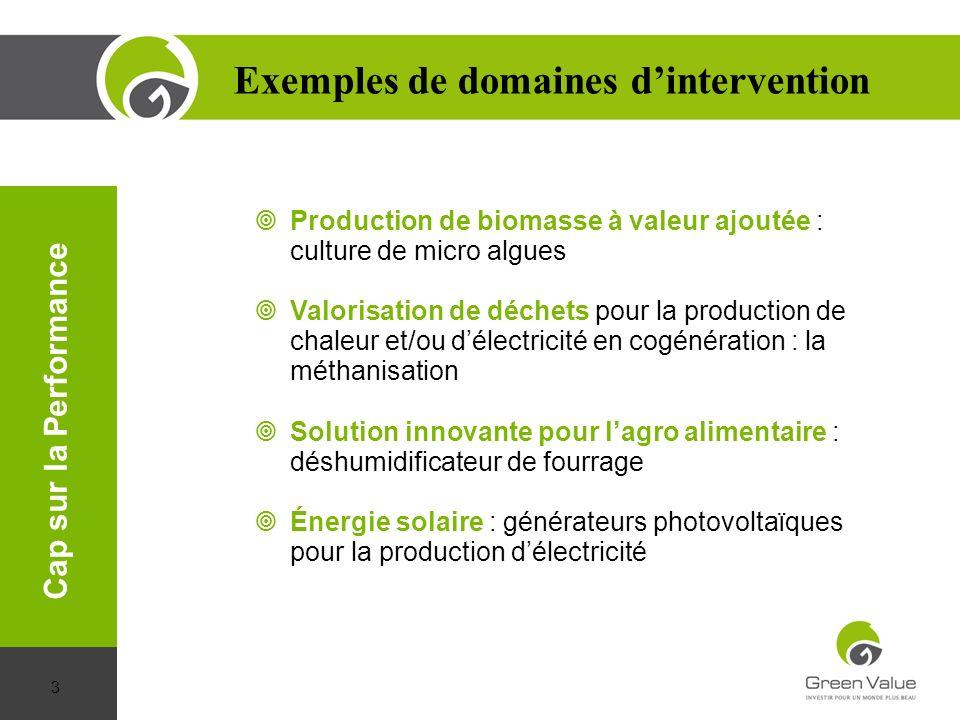 Exemples de domaines d'intervention