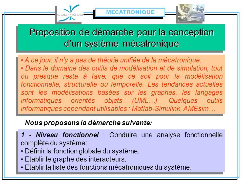 Proposition de démarche pour la conception d'un système mécatronique