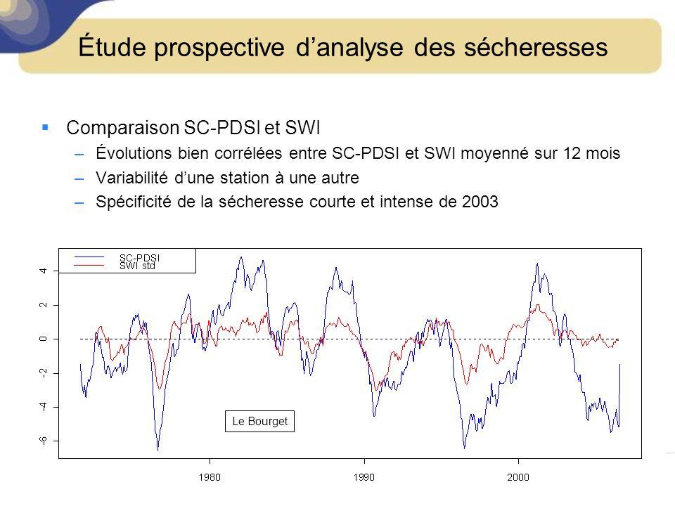 Étude prospective d'analyse des sécheresses