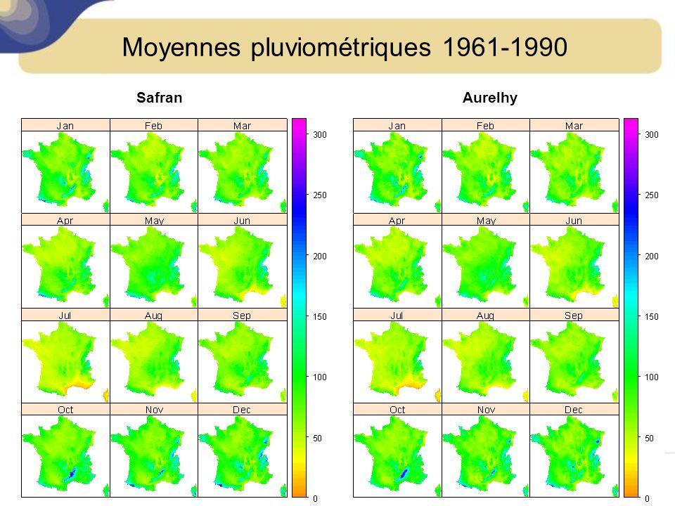 Moyennes pluviométriques 1961-1990