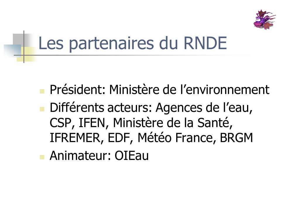 Les partenaires du RNDE