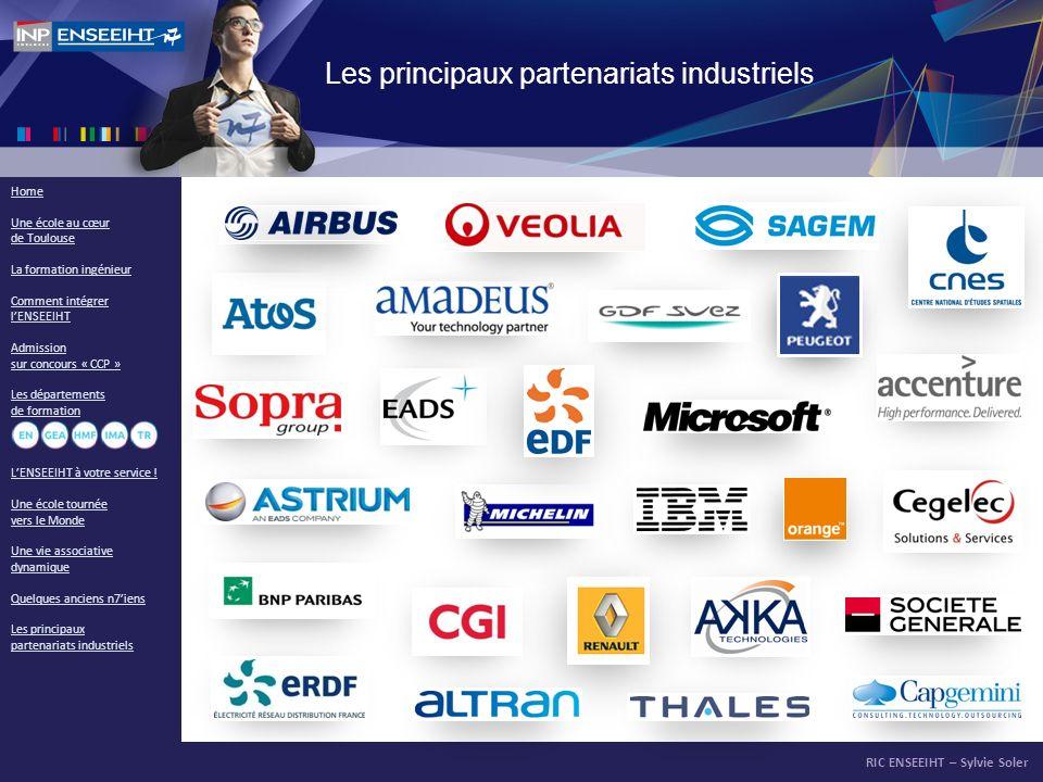 Les principaux partenariats industriels