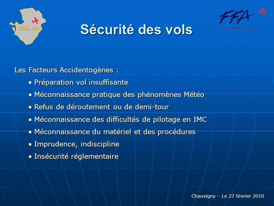 Sécurité des vols Les Facteurs Accidentogènes :