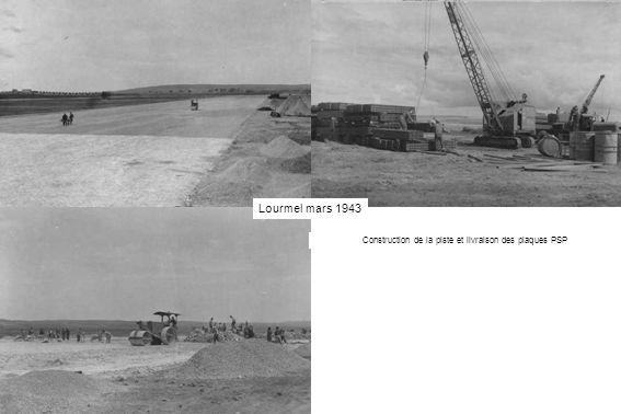Construction de la piste et livraison des plaques PSP