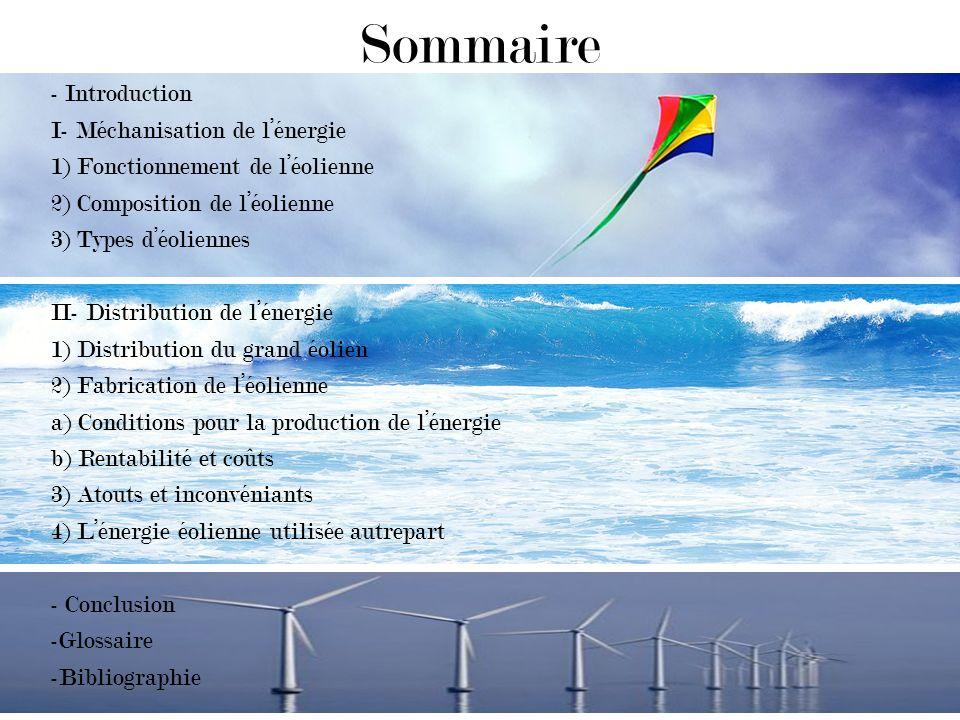 Sommaire - Introduction I- Méchanisation de l'énergie