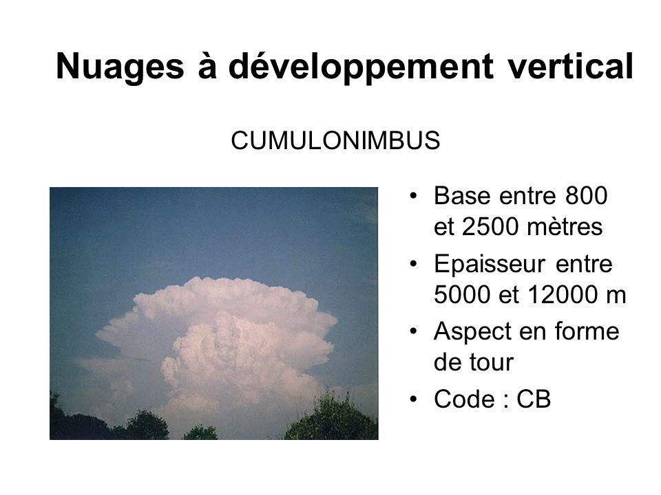 Nuages à développement vertical