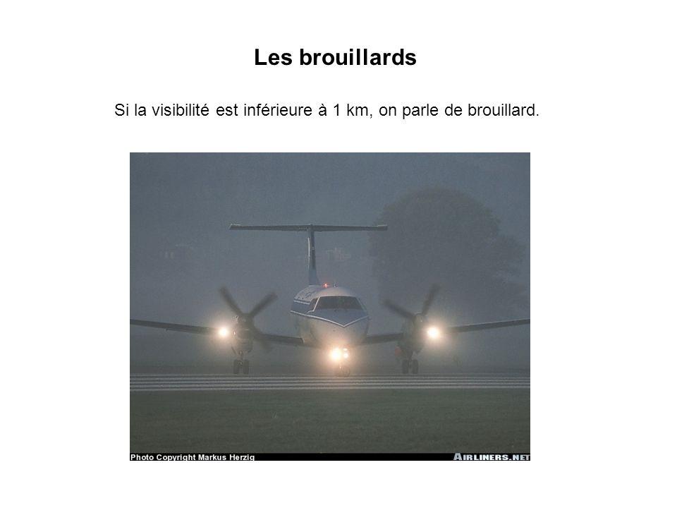 Si la visibilité est inférieure à 1 km, on parle de brouillard.