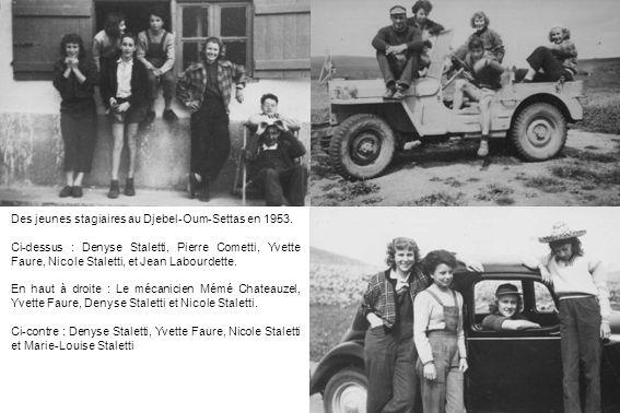 Des jeunes stagiaires au Djebel-Oum-Settas en 1953.