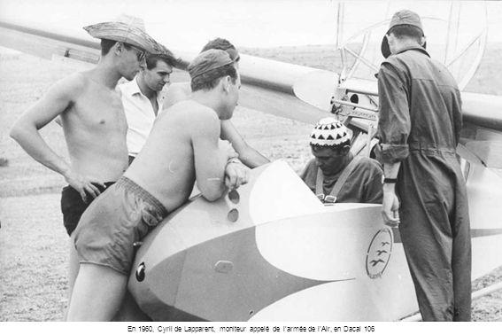 En 1960, Cyril de Lapparent, moniteur appelé de l'armée de l'Air, en Dacal 106
