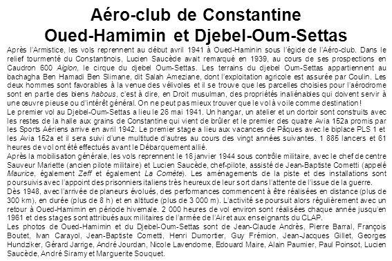 Aéro-club de Constantine Oued-Hamimin et Djebel-Oum-Settas