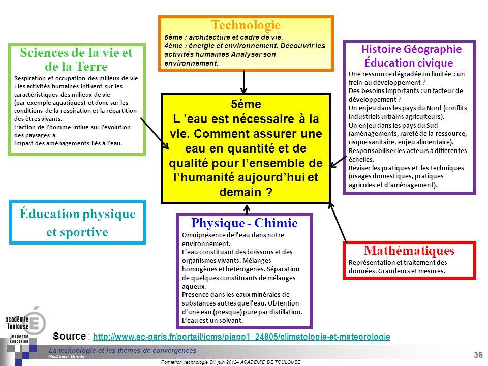 Sciences de la vie et de la Terre Éducation physique et sportive