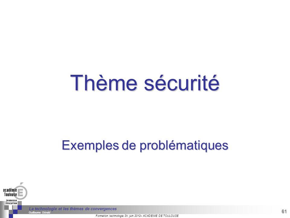 Exemples de problématiques