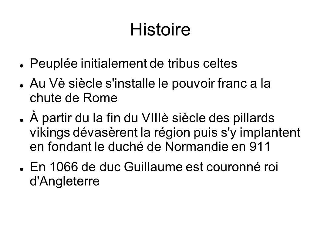 Histoire Peuplée initialement de tribus celtes