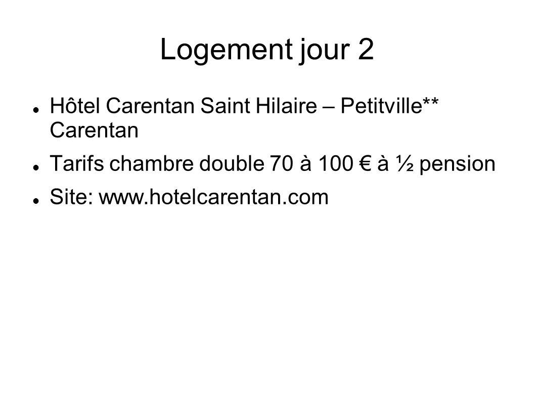 Logement jour 2 Hôtel Carentan Saint Hilaire – Petitville** Carentan
