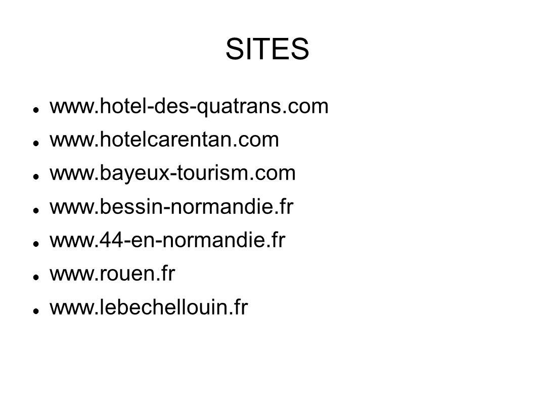 SITES www.hotel-des-quatrans.com www.hotelcarentan.com