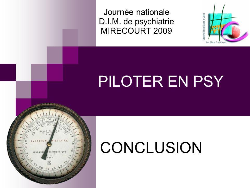 PILOTER EN PSY CONCLUSION