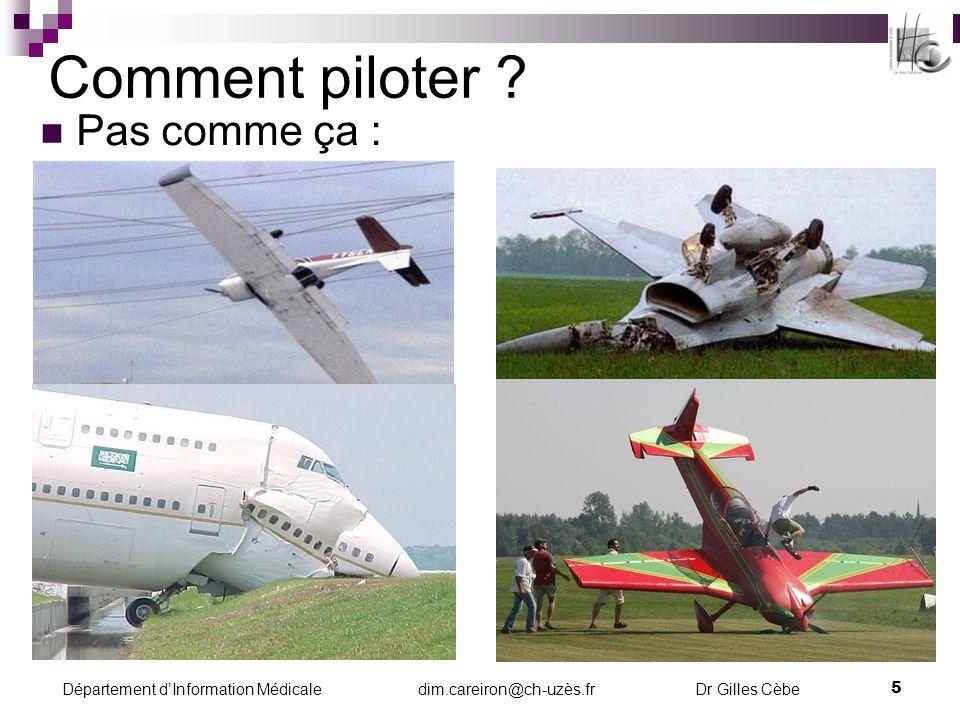 Comment piloter Pas comme ça :