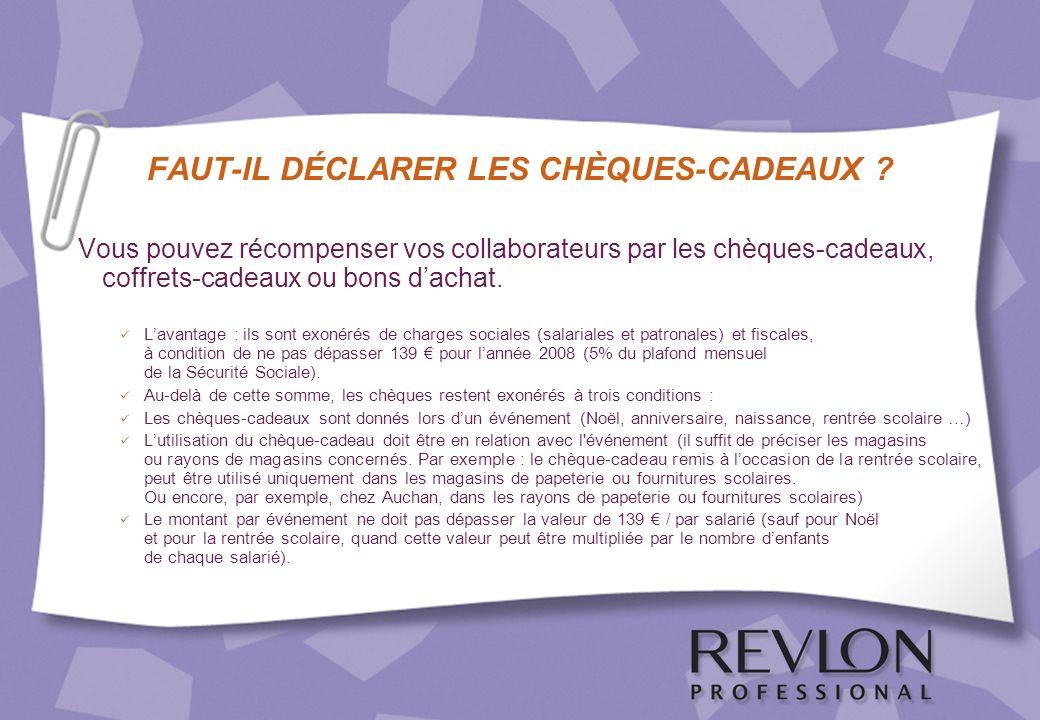 FAUT-IL DÉCLARER LES CHÈQUES-CADEAUX