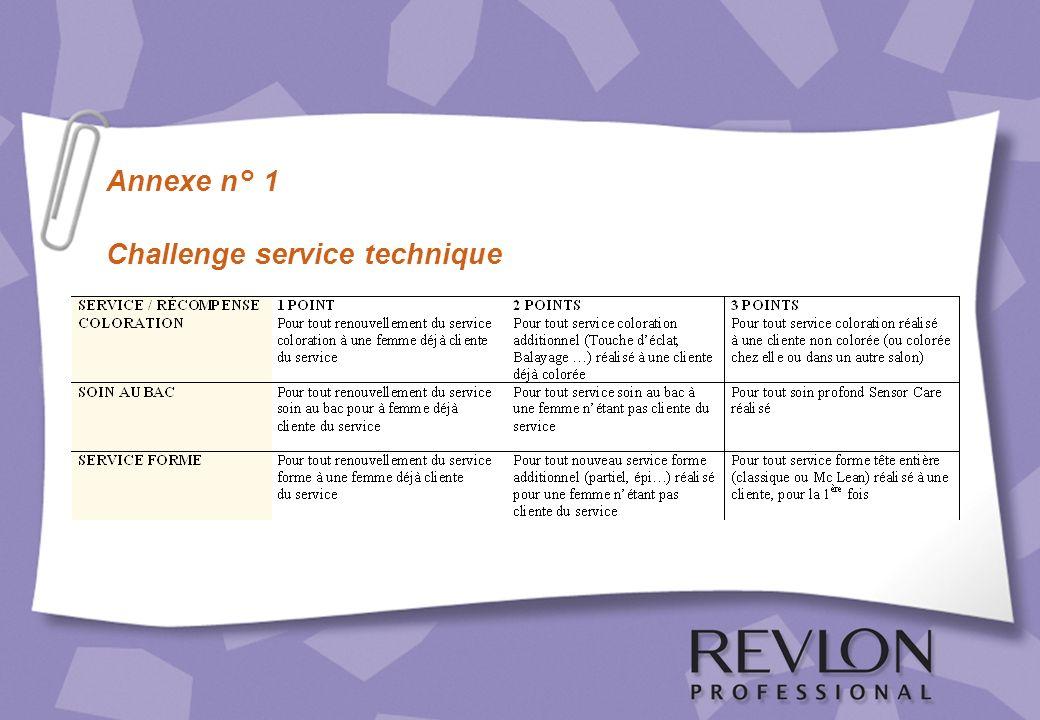 Annexe n° 1 Challenge service technique