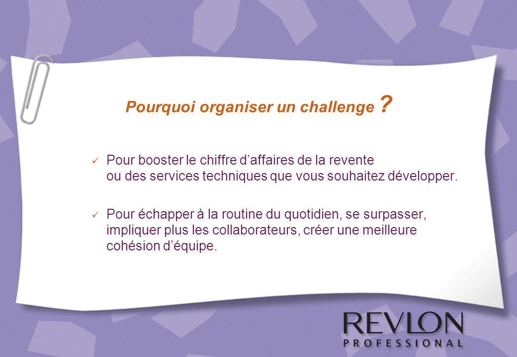 Pourquoi organiser un challenge