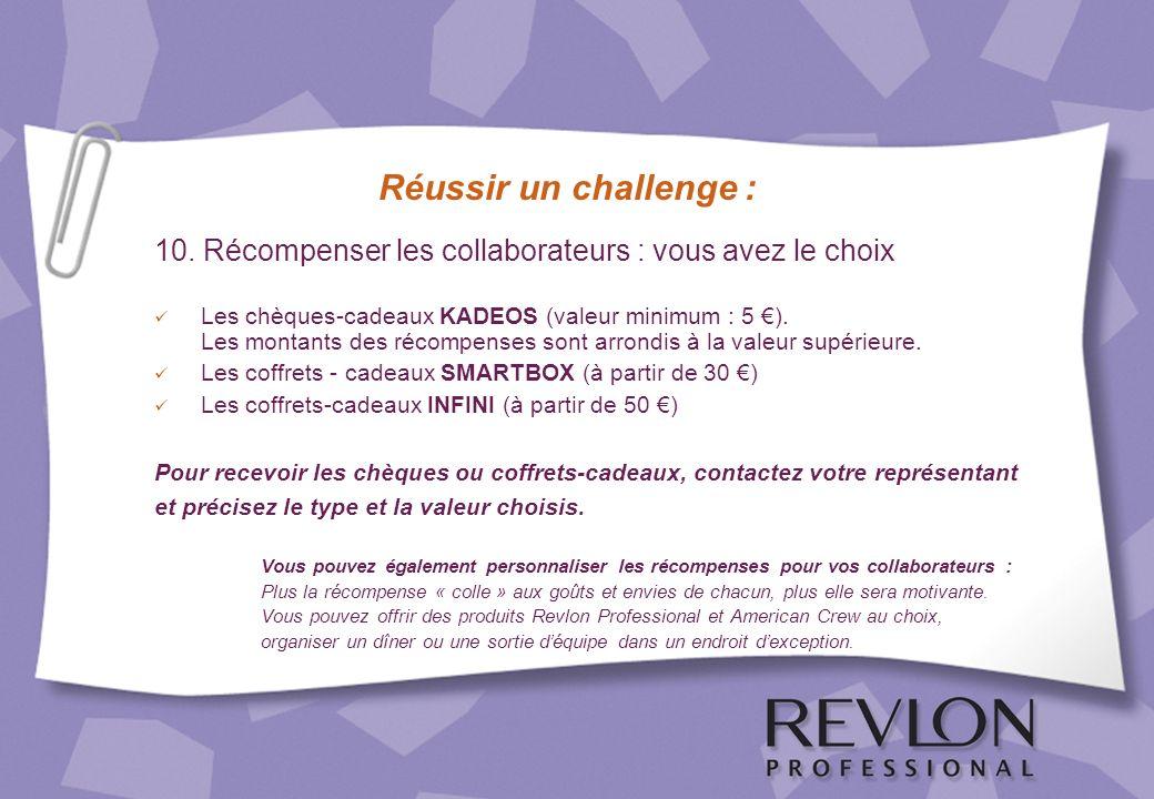 Réussir un challenge : 10. Récompenser les collaborateurs : vous avez le choix.