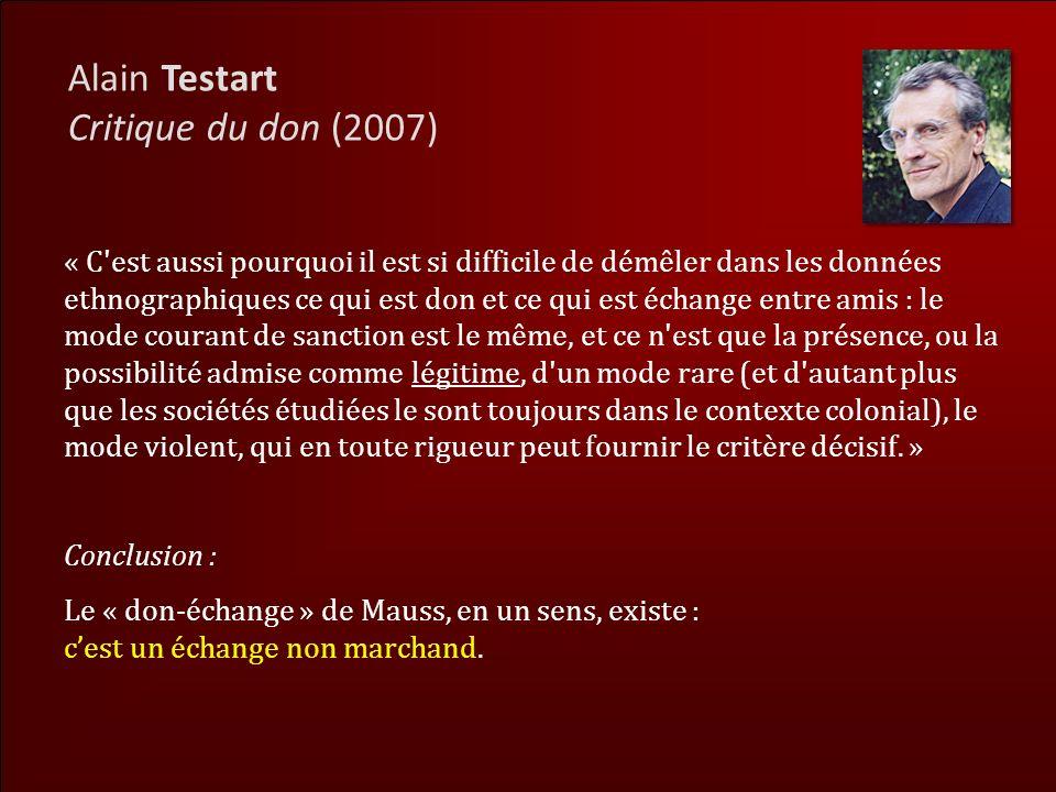 Alain Testart Critique du don (2007)