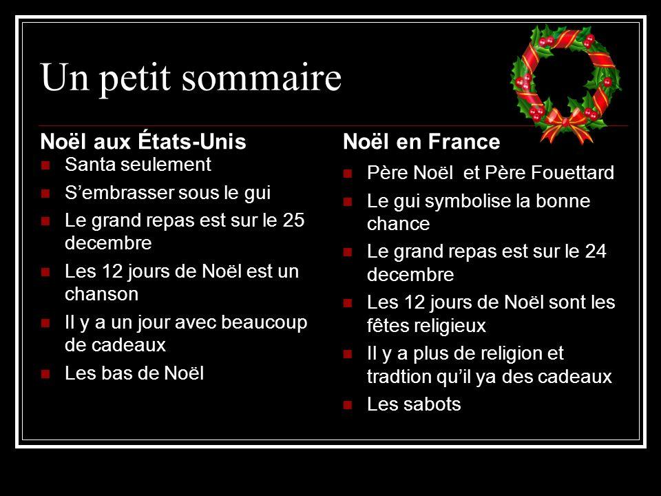 Un petit sommaire Noël aux États-Unis Noël en France Santa seulement
