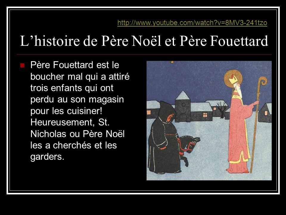 L'histoire de Père Noël et Père Fouettard