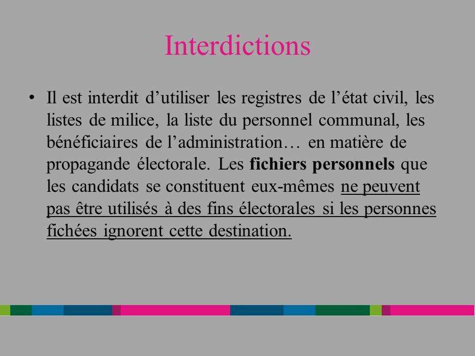 Interdictions
