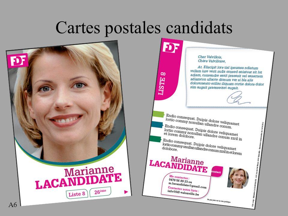 Cartes postales candidats