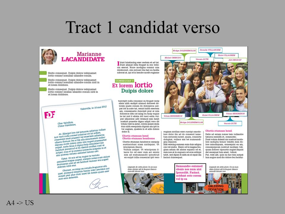 Tract 1 candidat verso A4 -> US