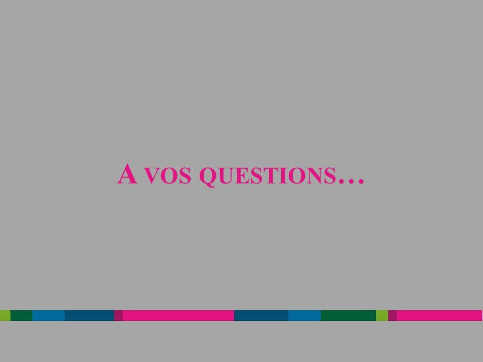 A vos questions…
