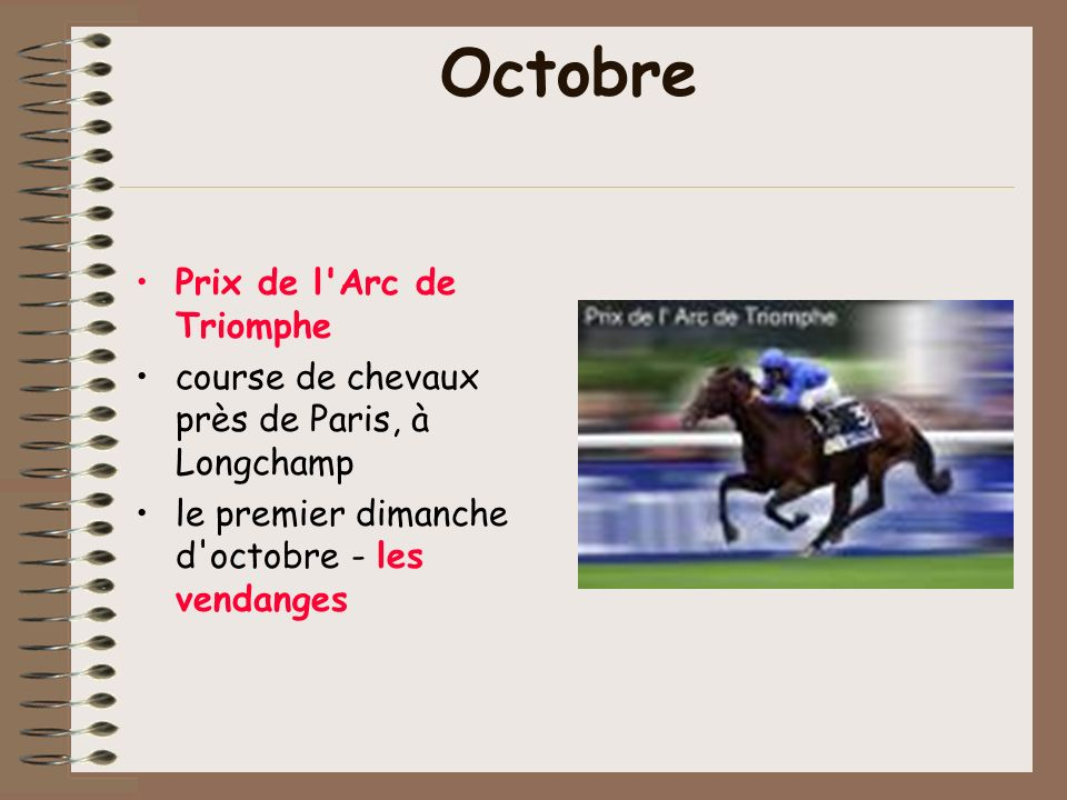 Octobre Prix de l Arc de Triomphe