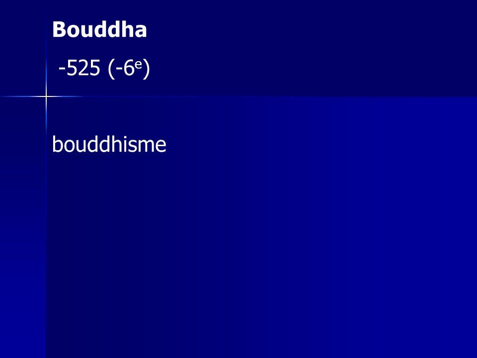 Bouddha -525 (-6e) bouddhisme