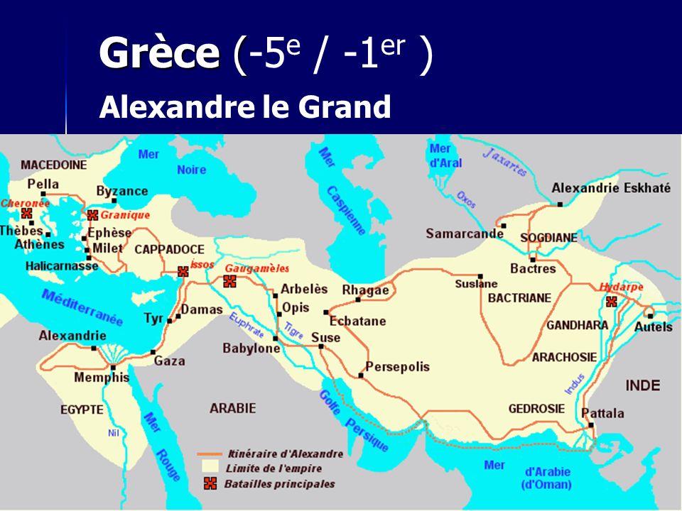 Grèce (-5e / -1er ) Alexandre le Grand