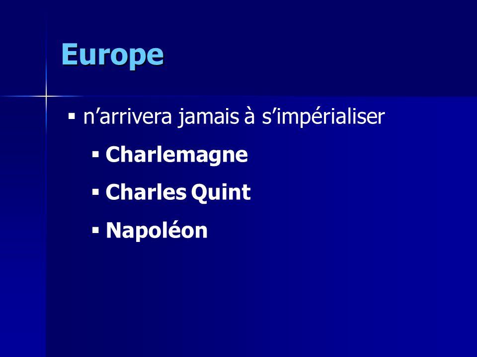 Europe n'arrivera jamais à s'impérialiser Charlemagne Charles Quint