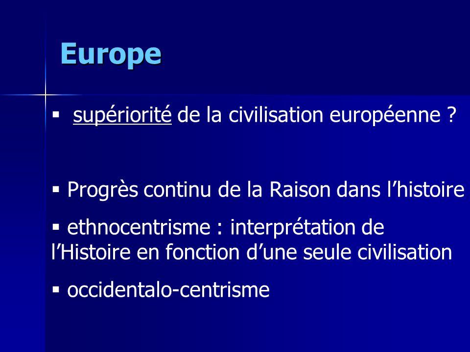 Europe supériorité de la civilisation européenne