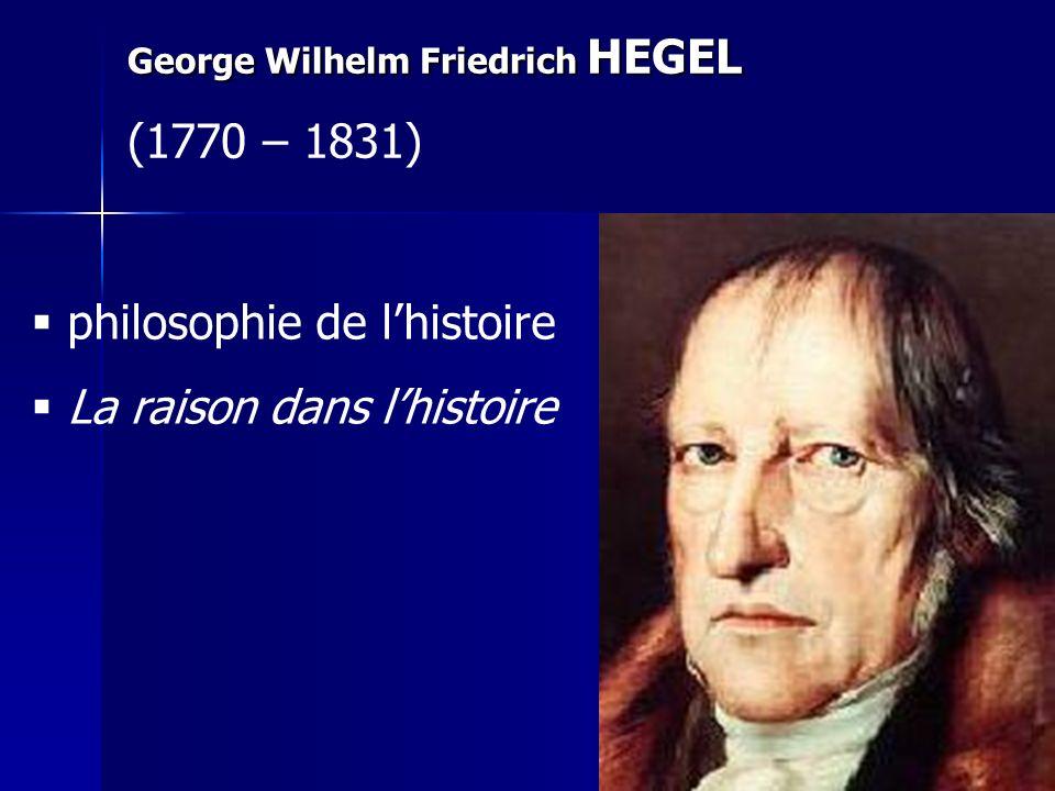 philosophie de l'histoire La raison dans l'histoire