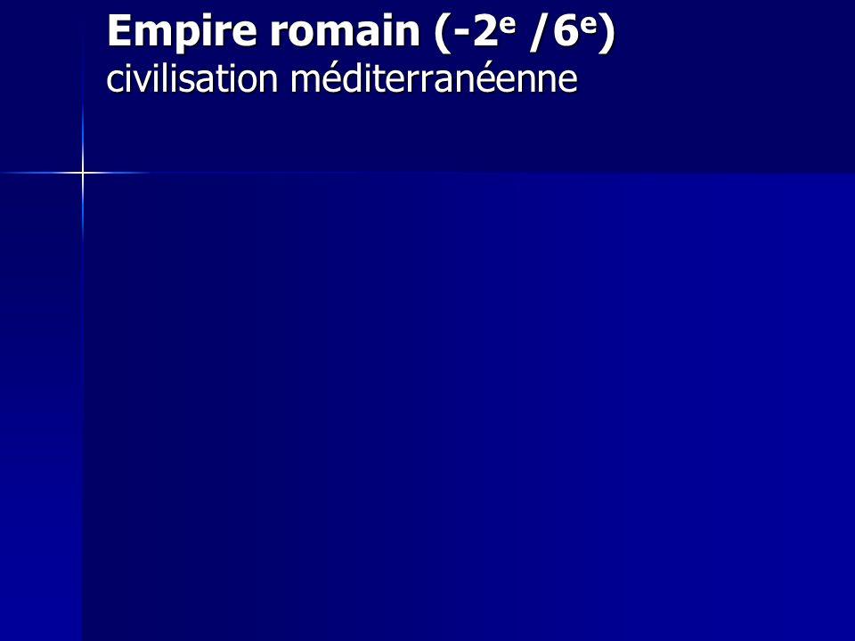 Empire romain (-2e /6e) civilisation méditerranéenne