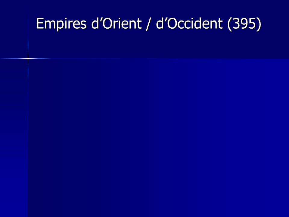 Empires d'Orient / d'Occident (395)
