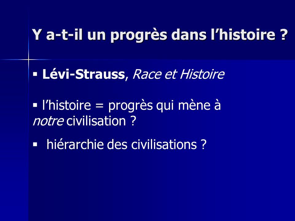 Y a-t-il un progrès dans l'histoire