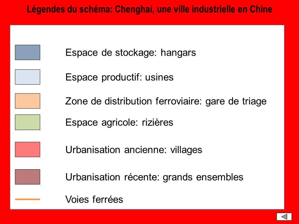 Légendes du schéma: Chenghai, une ville industrielle en Chine
