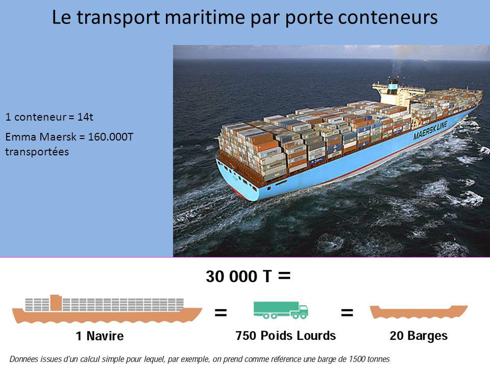 Le transport maritime par porte conteneurs