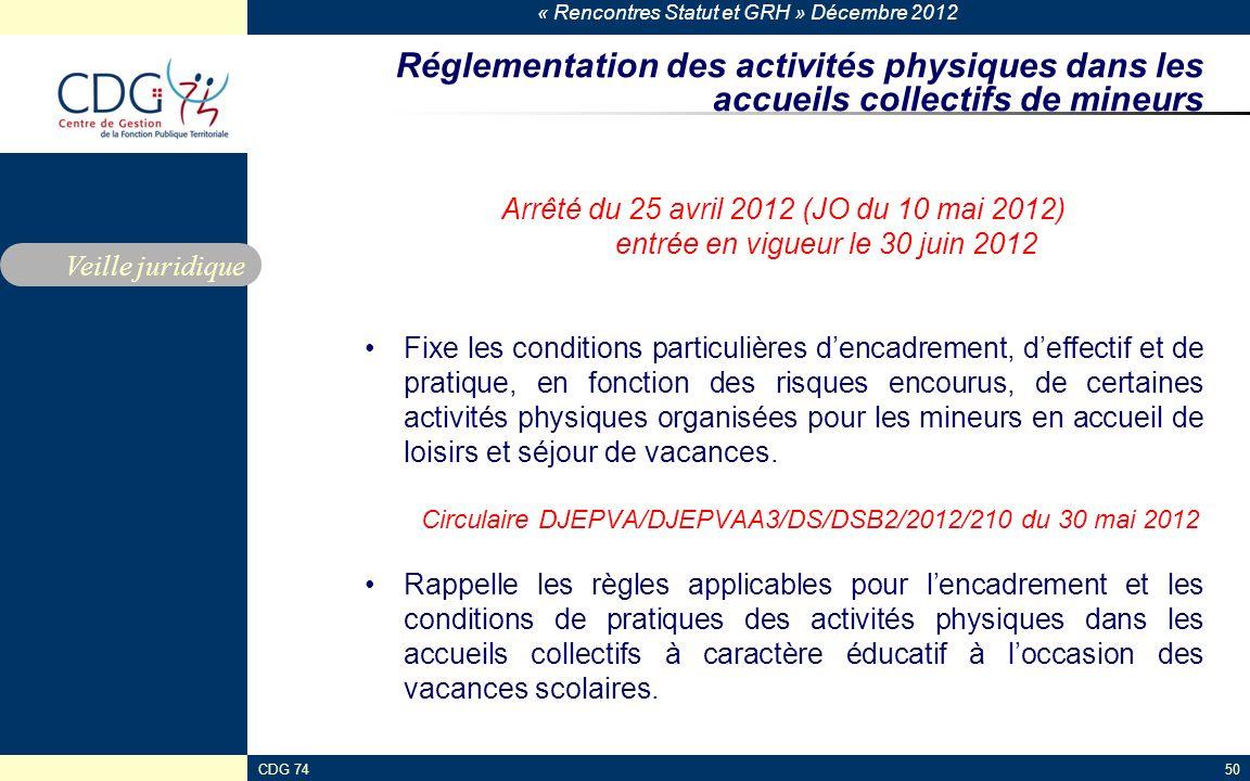 Réglementation des activités physiques dans les accueils collectifs de mineurs