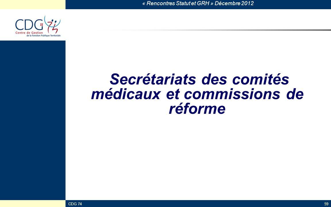 Secrétariats des comités médicaux et commissions de réforme