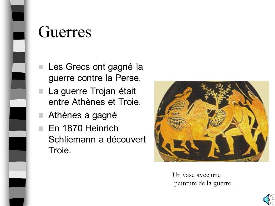 Guerres Les Grecs ont gagné la guerre contre la Perse.