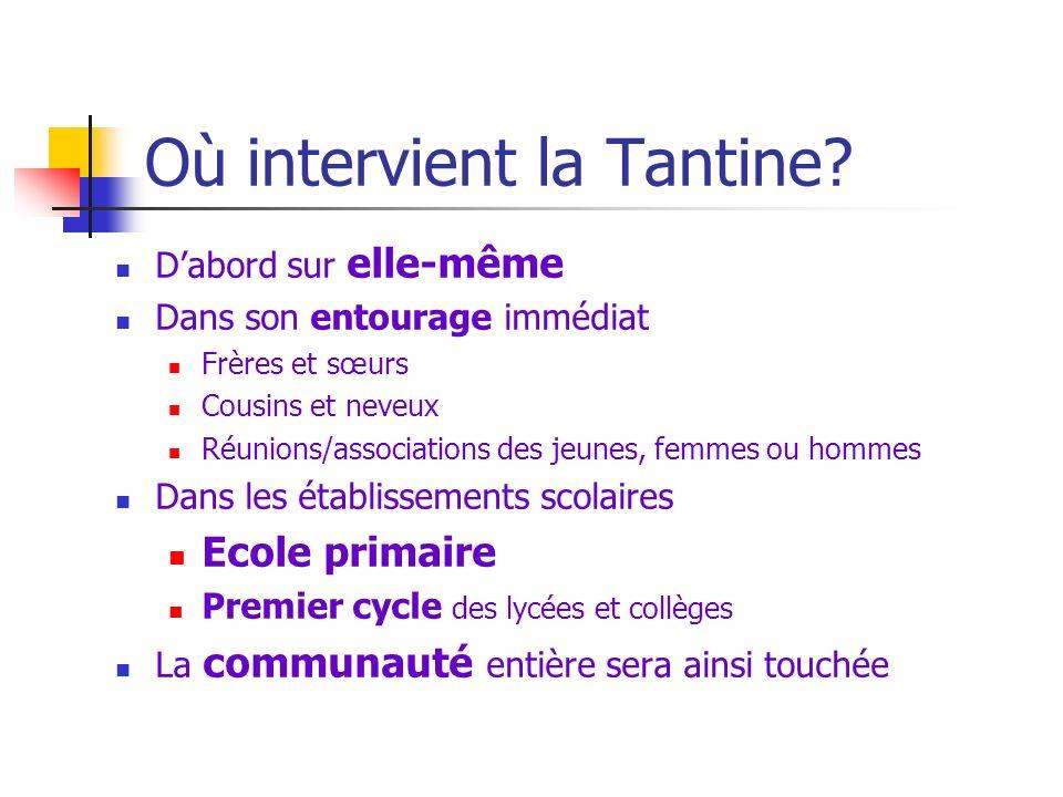Où intervient la Tantine