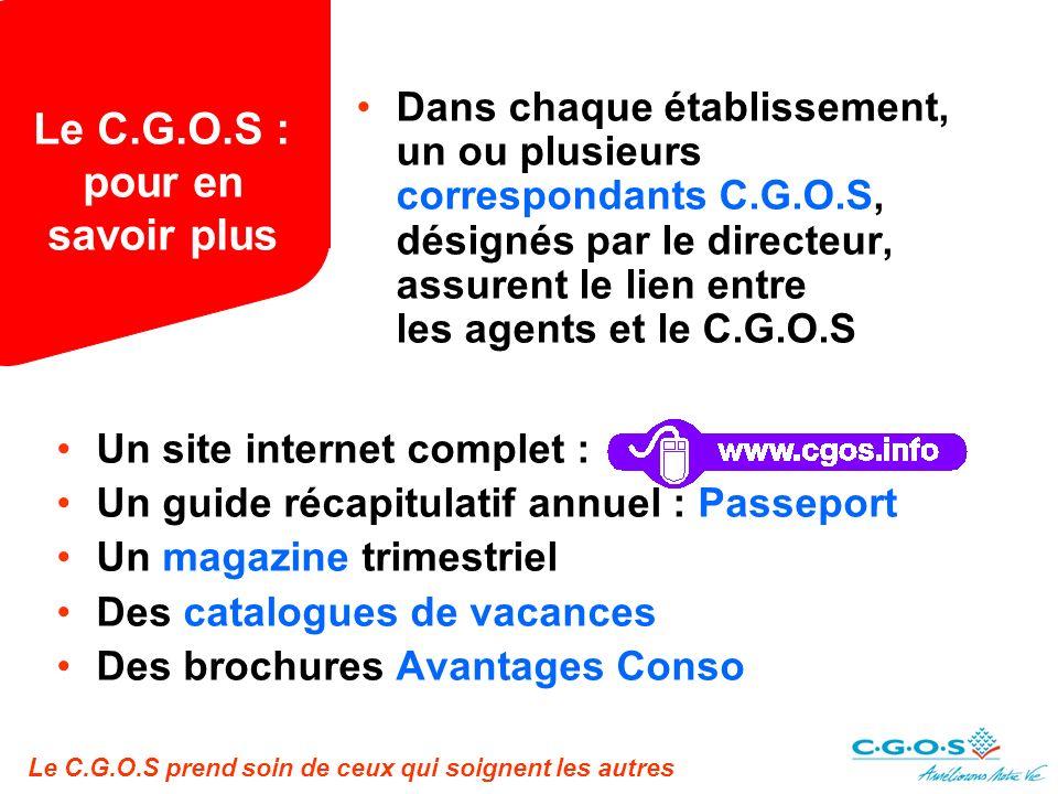 Le C.G.O.S : pour en savoir plus