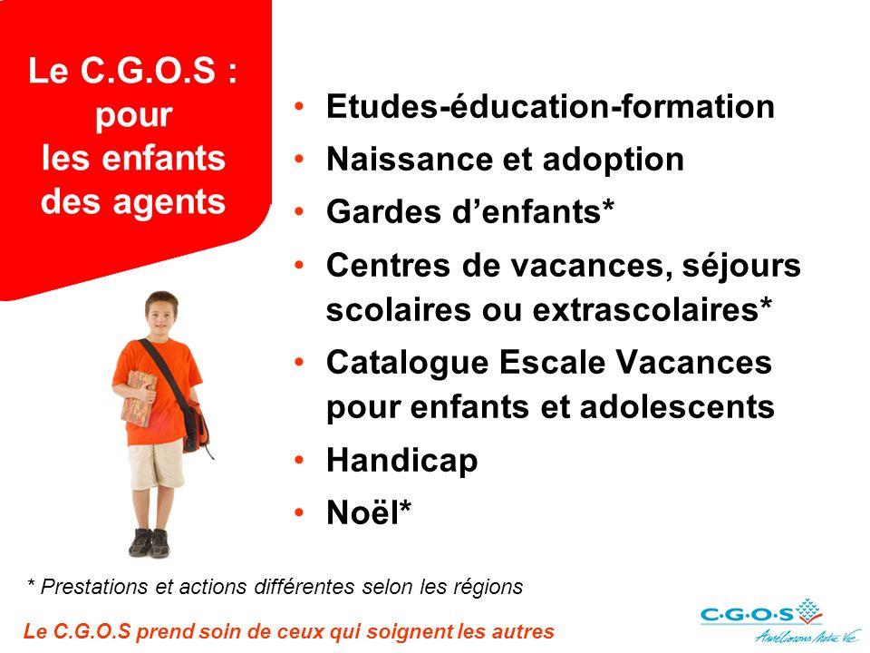 Le C.G.O.S : pour les enfants des agents